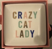 Crazy Cat Lady Decorative Tray New 4x4 Inches
