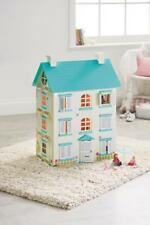 Wooden Dolls House Furniture Light Up Children Girls Pretend Play Large Fun New