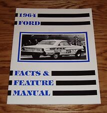 1964 Ford Illustrated Facts Feature Manual Brochure 64 Galaxie