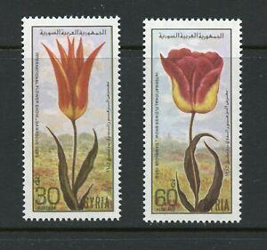 B977  Syria  1986  flora flowers tulips   2v.      MNH