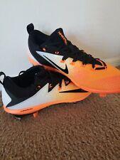 New Men'S Orange Black Dot Nike Vapor Lunarlon Baseball Cleats Size 12.5