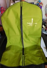 Academy Award Clothing Inc Los Angeles Green Nylon Vinyl Garment Bag W/ Zipper