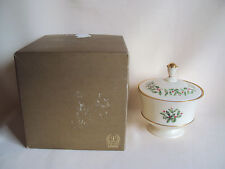 Vintage Lenox Holly Berry Sugar Bowl Made In U.S.A. In Box