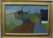 Arnold William Pedersen 1912-1986, Dorfkomposition, um 1950/60