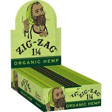Zig Zag Organic Hemp Half Box Rolling Papers 12 Packs 1 1/4*1.25