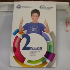 SAN MARINO 2 euro 10 anni di banconote e monete in euro 2012 FOLDER FDC