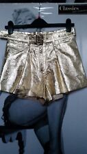 Women DIESEL GOLD Sexy Hot Pants Shorts LAMB LEATHER Party Nightclub XS, S  £400