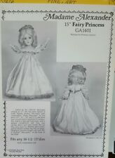 SEWING PATTERN MADAME ALEXANDER DOLL DRESS 15 in fairy princess ga-140 on