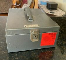 Vintage Newcrest Metal Products Cancelled Check Storage Box