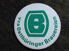 """alter Bierdeckel DDR; einseitig; """"VEB Ostthüringer Brauereien"""""""