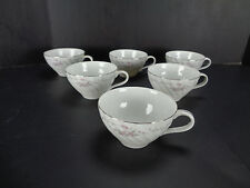 Lot of 6 Gold Standard Genuine Porcelain China Teacups White Tea Cups Floral GS