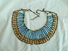 Egyptian Hand Beaded Small Turquoise Queen Cleopatra Necklace