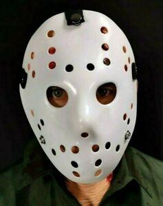 Blanc Hockey Masque Plastique Jason Horreur Vendredi Halloween Costume Enfants