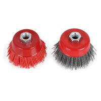 "3"" M14 Cup Nylon Abrasive Brush Grinding Wheel for Derusting 12500RPM 80# 120#"