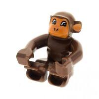 1x Lego Duplo Tier Affe braun orange Zirkus Schimpanse Monkey 2281px1