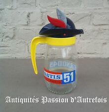 B201607 - Pichet , carafe Pastis 51- Pernod 45 en verre avec coiffe plastique