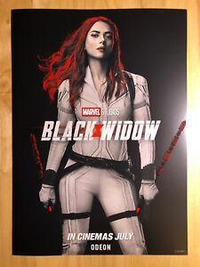 Marvel Studios Black Widow (2021) ODEON Poster A3 Disney Avengers - New