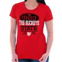 Ohio The Buckeye State USA University Sports Womens Short Sleeve Ladies T Shirt