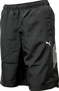 Schwarze Puma Boys TD Graphic Cat Bermuda / Short / Hose