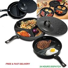 3 in1 NON STICK DIVIDE WONDER COMBO DIVIDED FRYING PAN SET DELICIOUS BREAKFAST