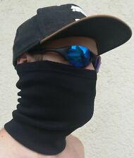 Schlauchtuch Multifunktionstuch Gesichtstuch Schlauchschal schwarz Baumwolle