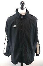 ADIDAS Mens Full Zip Jacket XL Black Nylon Oversize