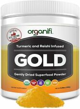 Lot of 2 Organifi GOLD Gently Dried Superfood Tea Turmeric and Reish Brand NEW