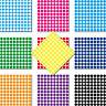 1000 Punti Colla 3mm Autoadesivo Adesivo PVC Pellicola Etichette Inventario