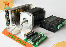 US FREE 1Axis Nema34 Stepper Motor 1232oz-in&Driver 7.8A cnc router kit hot sell