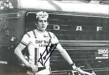 MAURICE VANHEER team DAF Lejeune Trucks Signed Autographe cycling Signé cyclisme