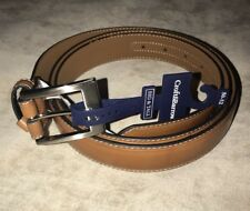 Croft & Barrow Men's Faux Leather Big and Tall Casual Soft Belt 50/52 Tan NWT