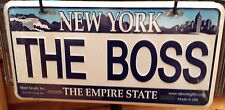The Boss License Plate, New York License Plate, NYC Souvenir, Made in USA!