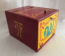 Vintage Magician's Disappearing Rabbit Wooden Box Asian Illusion Magic Show Prop