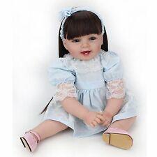 "22"" Handmade Reborn Girl Dolls Soft Vinyl Silicone Real Life Baby Doll Kids Gift"