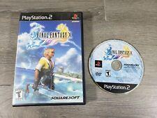 Final Fantasy X (PlayStation 2, 2001) PS2 Black Label  NO MANUAL