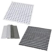 Duckboard Slats Roll-Up Foldable Shower Mat Door Rug Anti-Slippery