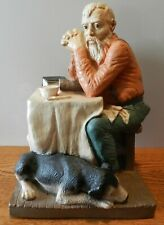 "1989 Pat Rankin Universal Statuary ""Man praying with dog"" Figurine"
