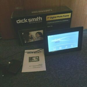 "Dick Smith 7"" Digital Photo Frame with Clock & Calendar"