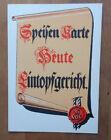 WHW Speisenkarte, Heute Eintopfgericht, 100 % original, Urkunde, Winterhelfswerk