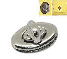 50 Sets Silver Tone Purse Twist Turn Lock 3.5x3.3cm HP