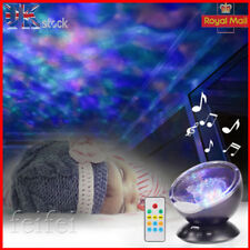 Projector Music Ocean Wave Calm Relax Autism Sensory LED Night Light Gift