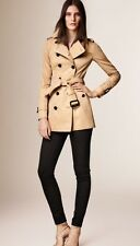 New Burberry London Heritage 2017 Authentic Sandringham Honey Trench Coat Short