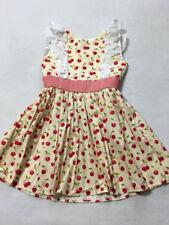 Persnickety 6 Bushel & A Peck Hopscotch Cherry Dress Ruffle Trim