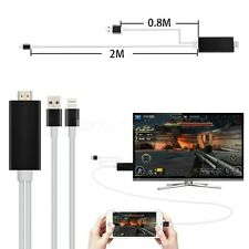 2M AirPlay 8Pin Light ning to HDMI /HDTV Cable Adapter For iPhone6 6S 5 5S/iPad