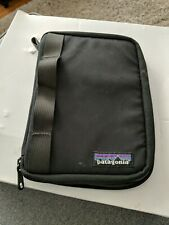 """Patagonia 9"""" Tablet Case Black Padded Kindle Ipad Fire 5 1/2 """" x 7 1/2""""  Zip"""