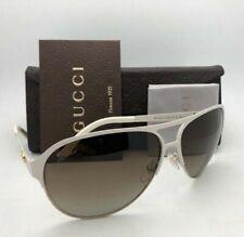 GUCCI Sunglasses GG 4233/S 6J7JD 62-12 Ivory White & Gold Aviator w/ Brown Fade