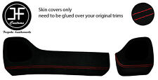 RED STITCH TWO PIECE DASH KIT TRIM SUEDE COVERS FOR TOYOTA AYGO 2014-2019