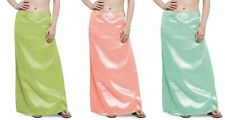 Indian Saree sari Petticoat Underskirt Satin Silk Lining belly dance slip bridal