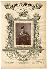 Lemercier, Paris-Portrait, Lola Gomez, danseuse Vintage albumen Print Tirage a