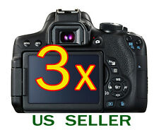 3x Canon EOS 800D Rebel T7i Camera Clear LCD Screen Protector Guard Shield Film